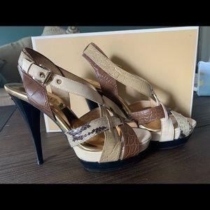 Michael Kors size 6 cross strap heels